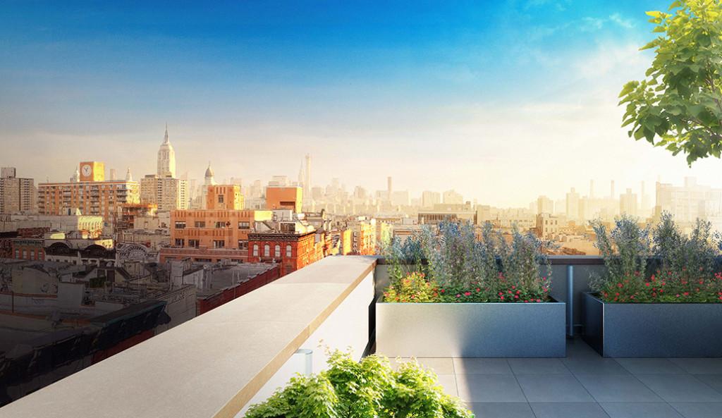 Silverback Development 50 Clinton Street penthouse terrace large