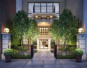 In Brooklyn Heights, 67 Livingston hopes to guarantee buyers protected views with a location overlooking a schoolyard, next to two historic districts. Credit Rendering by Redundant Pixel