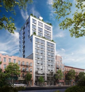At 1790 Third Avenue, a condo tower in East Harlem, the strong sales can be attributed in large part to the location on Cherry Tree Park, said Yair Tavivian, an associate broker with Douglas Elliman. Credit Rendering by Christopher Shelley